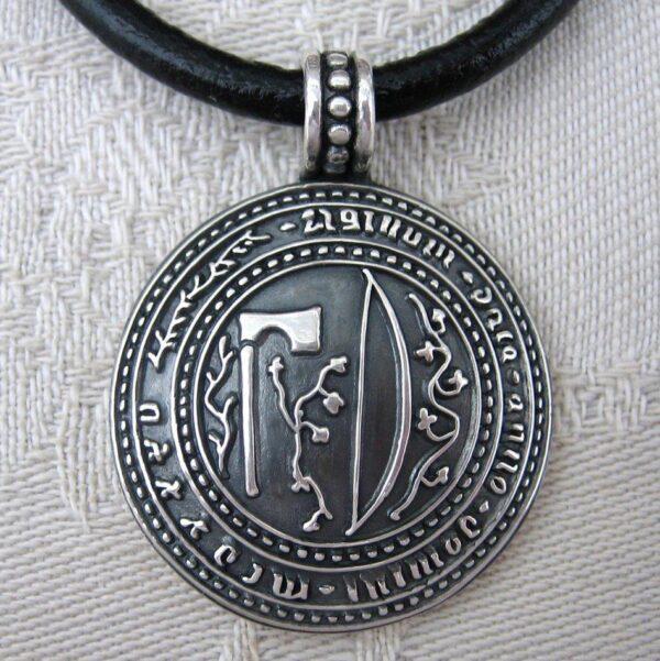 Dalarnas landskapssigill - silversmycke i äkta silver - handgjorda silversmycken från Brokig silversmycken