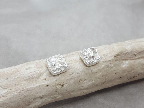 Glitter - örknoppar - örhängen silver - handgjorda från Brokig silversmycken