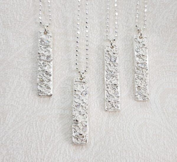 GLITTERTAG - silversmycke i äkta silver - handgjorda silversmycken från Brokig silversmycken