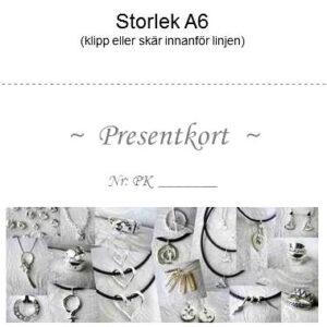 Presentkort-bild - silversmycke i äkta silver - handgjorda silversmycken från Brokig silversmycken