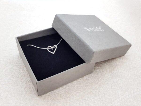 SILVERHJÄRTA-MINI–ask - silversmycke i äkta silver - handgjorda silversmycken från Brokig silversmycken