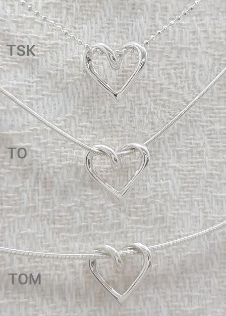 SILVERHJÄRTA-MINI–silverkedjor-val-silversmycke i äkta silver - handgjorda silversmycken från Brokig silversmycken