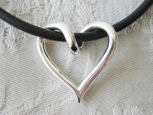 Silverhjärta från Brokig silversmycken
